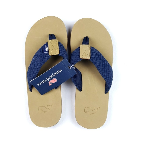 dbde02da2e1c Vineyard Vines Men s Leather Flip Flops